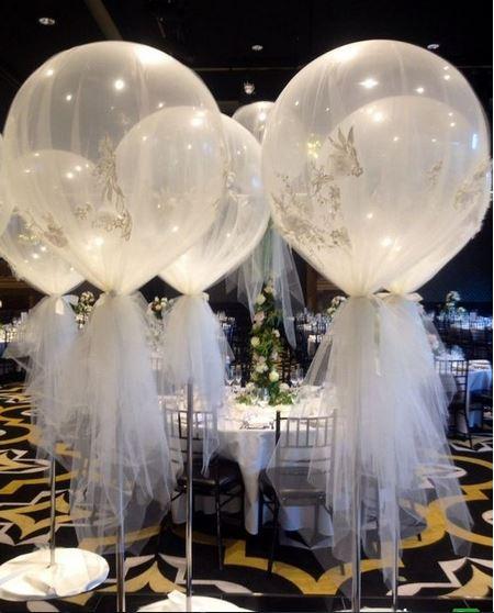 تزیین تور و بادکنک در جشن عروسی
