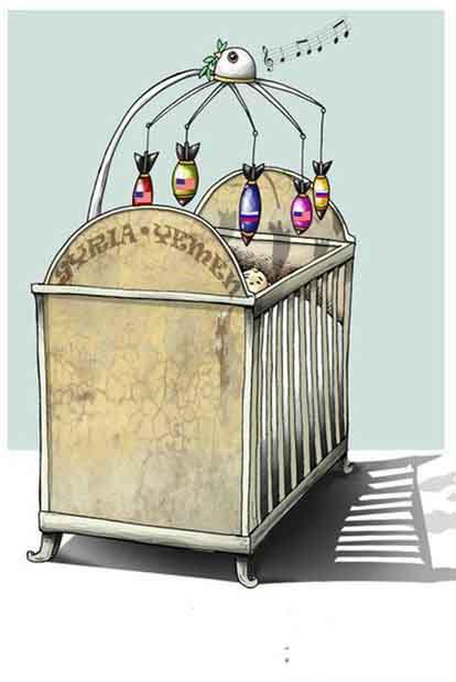 مجموعه کاریکاتورهای جنگ در سوریه