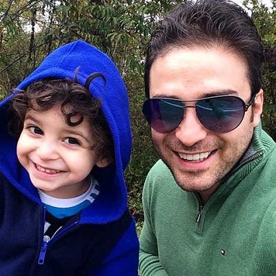 عکس جدید و زیبای بابک جهانبخش و پسر بانمکش آرتا!