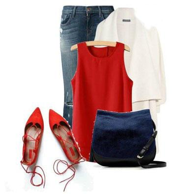 بهترین و شیک ترین مدل ست لباس با کفش های بدون پاشنه تصاویر