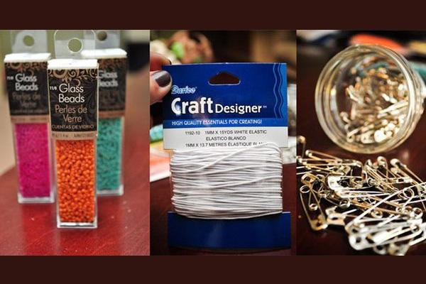 ساخت دستبند زیبا با وسایل اضافه تصاویر