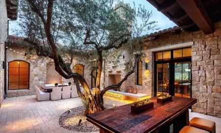 مبلمان و طراحی دکوراسیون فضای بیرونی و باغچه منزل  تصاویر