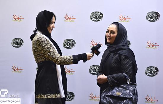 عکس های الهام حمیدی در مراسم بزرگداشت علی نصیریان