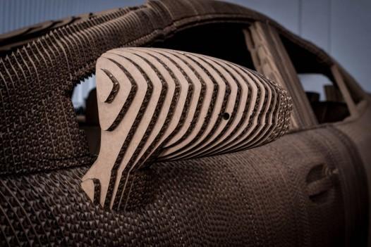 لکسس IS مقوایی با هنر اُریگامی  تصاویر