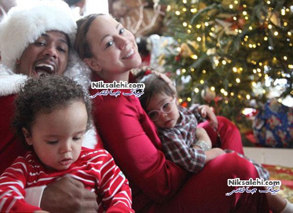 کریسمس امسال ماریا کری با دوقلوهایش