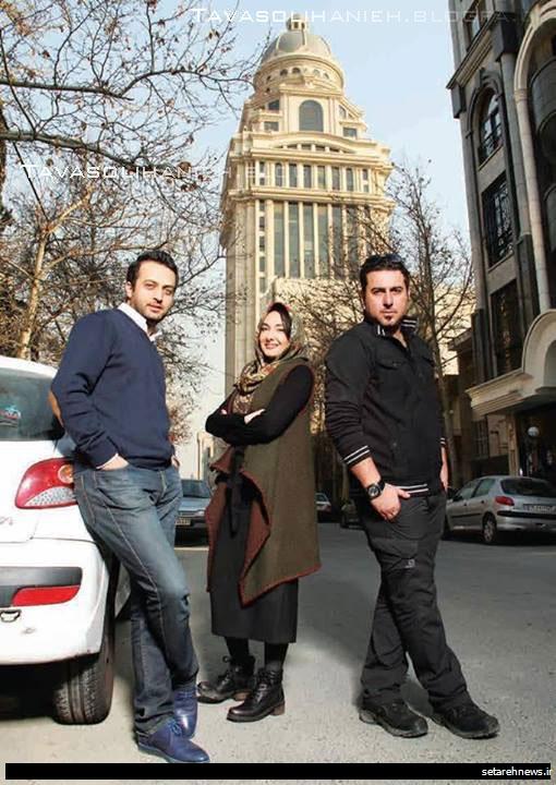 عکسهای جالب هانیه توسلی در کنار دو بازیگر مرد