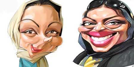 کاریکاتور بازیگران زن و مرد ایرانی