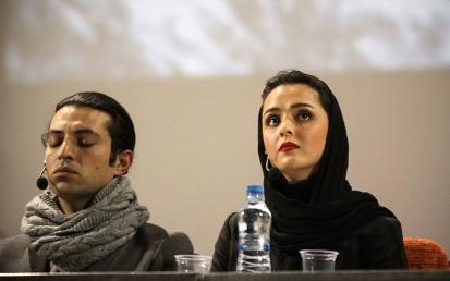 ترانه علیدوستی و اشکان خطیبی در نمایشنامه خوانی آنا کارنینا