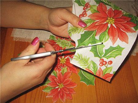 آموزش هنر زیبای دکوپاژ روی گونی