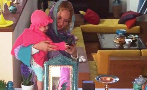 مهناز افشار و دخترش لیانا در کنار سفره هفت سین تصاویر