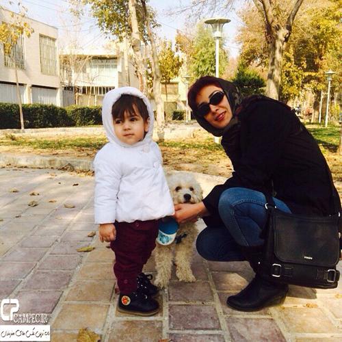 عکس های جدید ملیشا داوود نژاد همسر آرش مجیدی و دخترش