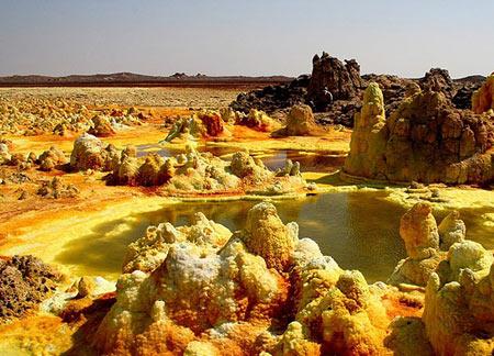 تصاویر خارق العاده از آتشفشان Dallol اتیوپی