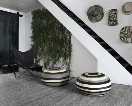 دکور خانه با جاجیم های سیاه و سفید  تصاویر