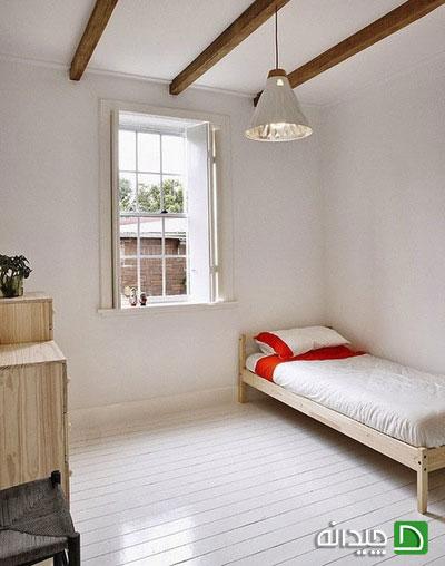 استفاده از رنگ سفید در اتاق خواب ، جذاب و متفاوت