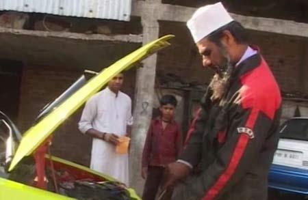 مرد بیسواد ماشینی با سوخت آب تولید کرد!!!! تصاویر