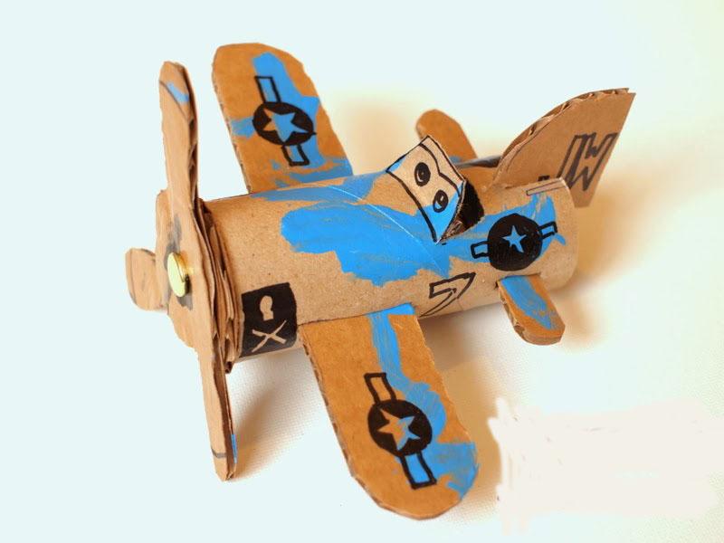 کاردستی هواپیما بسیار آسان با مواد دور ریختنی تصاویر