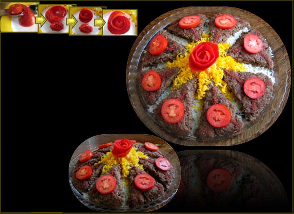 ایده هایی بسیارجالب وزیبا برای تزیین کباب ماهیتابه