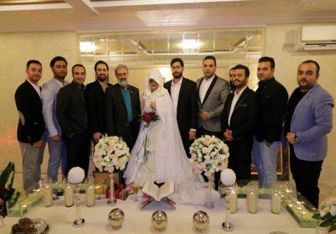 عکسهای عقد زوج ماه عسلی در حضور برادر رییس جمهور