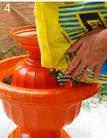 ساخت کاردستی گلدان و آب خوری پرندگان  تصاویر