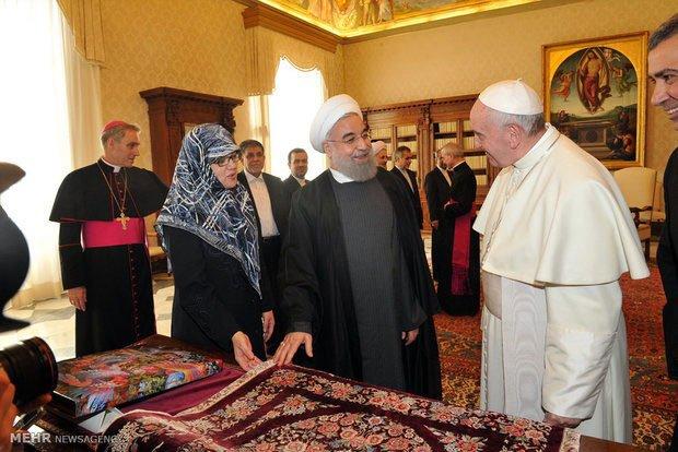 خانم همراه حسن روحانی در ایتالیا که بود؟ عکس