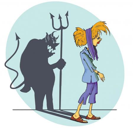 کاریکاتور حجاب و بدحجابی