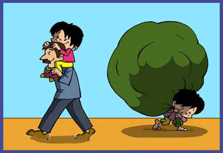 کاریکاتور کودکان کار