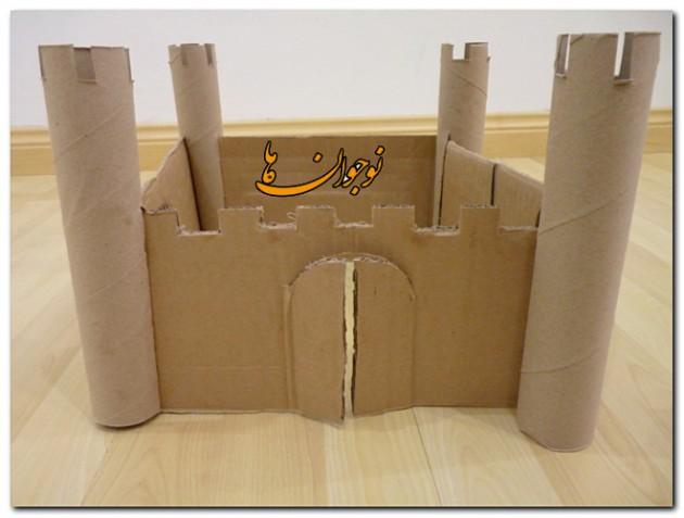 ساخت کاردستی قلعه مقوایی  تصاویر