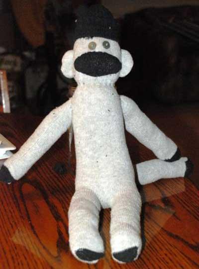 آموزش کاردستی عروسک میمون با جوراب