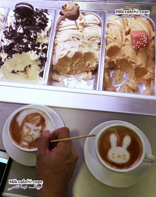 هنرخارق العاده یک گرافیست روی فنجان قهوه