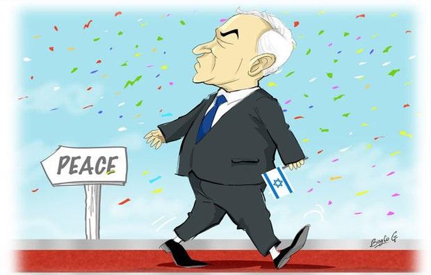 مجموعه کاریکاتورهای سفر نتانیاهو به هلند
