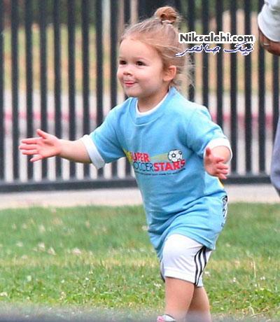 بازی فوتبال دختر دیوید بکهام