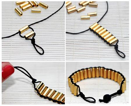 آموزش انواع بافت دستبند در خانه