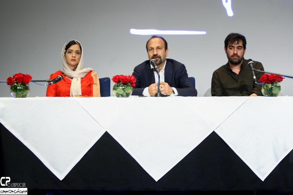 نشست مطبوعاتی فیلم فروشنده با حضور شهاب حسینی و ترانه علیدوستی