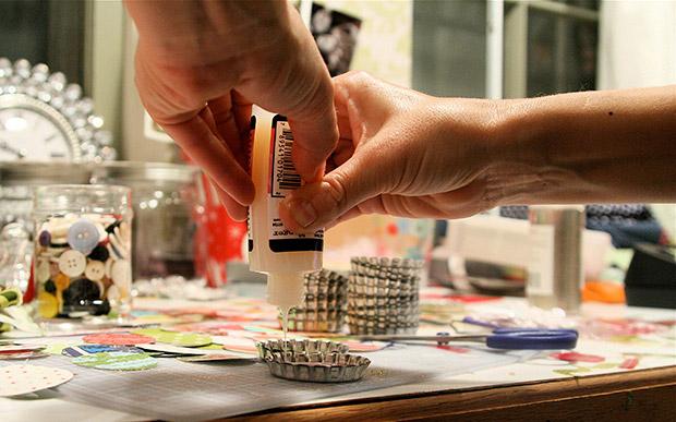 ساخت کاردستی قاب های مینیاتوری با درب فلزی نوشابه  تصاویر
