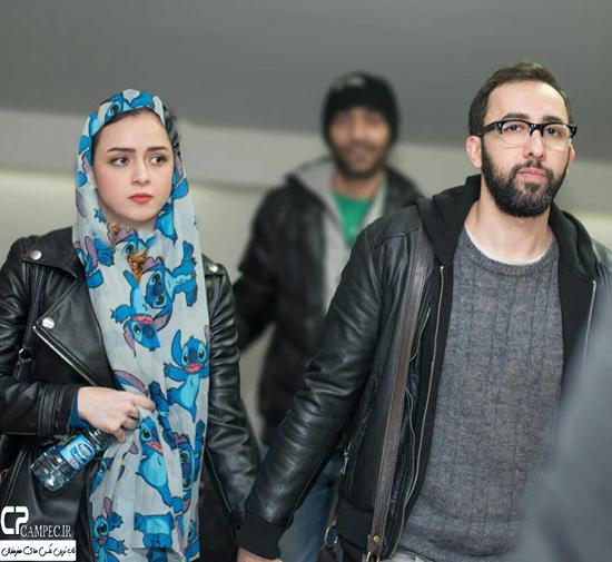 ترانه علیدوستی و همسرش در اکران خصوصی فیلم بهمن