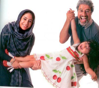 علیرضا خمسه در کنار همسر و 2 دخترش تصاویر
