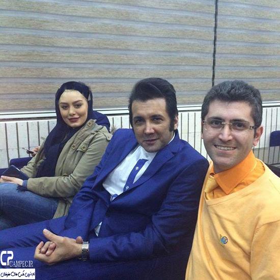 سحر قریشی و حسام نواب صفوی در افتتاحیه فست فود اپتیموس