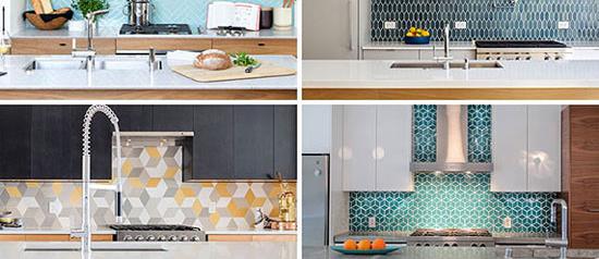 طراحی مدرن و شیک آشپزخانه با این کاشی های بسیار زیبا و جدید