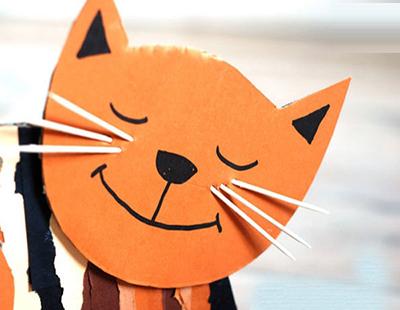 آموزش ساخت بچه گربه راحت با کارتن تصاویر
