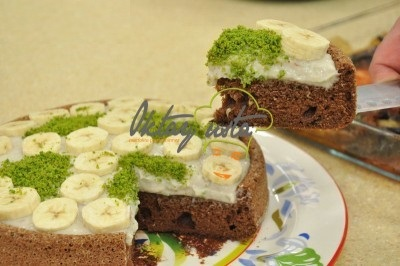 کیک شکلاتی موزی