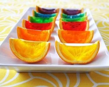 طرز تهیه پرتقال ژله ای در رنگهای مختلف! عکس