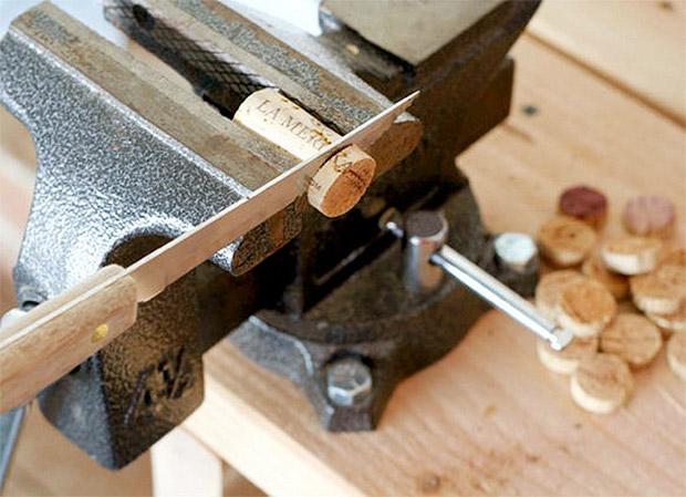 آموزش ساخت گردنبند با چوب پنبه بسیار زیبا و ساده تصاویر