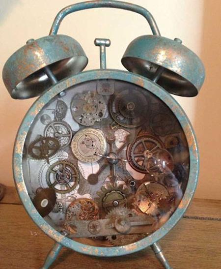 درست کردن دکوری های تزیینی با ساعت های کوکی قدیمی تصاویر