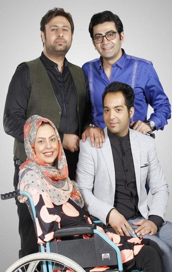 فرزادحسنی کنار احسان و سولماز عکس
