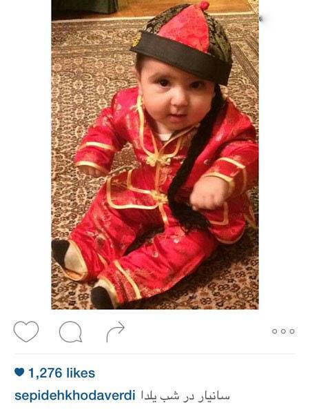 سپیده خداوردی بازیگر ایرانی و پسر بانمکش تصاویر