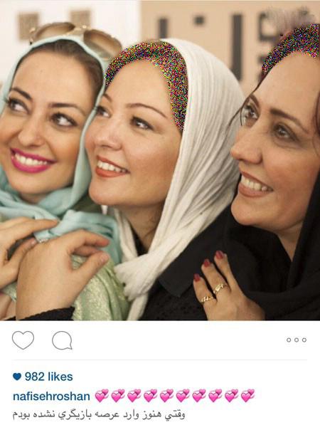 تصویری از سه بازیگر مشهور زن ایرانی عکس