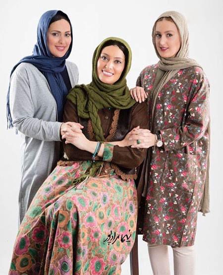 بازیگر سریال کیمیا در کنار خواهرانش عکس