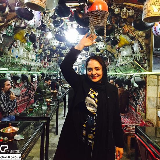 نرگس محمدی و بهاره افشاری در اماکن تاریخی اصفهان