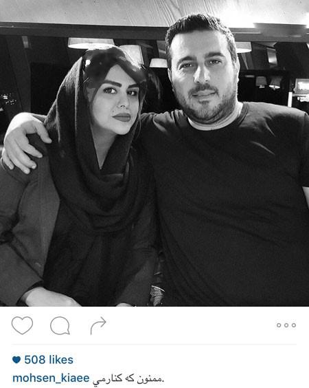 سام درخشانی و محسن کیایی در کنار همسران خود تصاویر