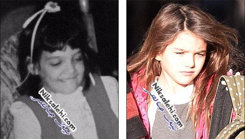 شباهت زیاد دختر تام کروز به مادرش